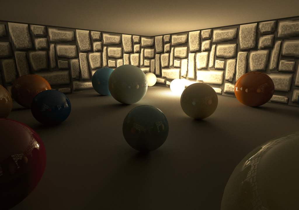 3D scene created using a ray tracer